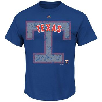 Majestic Texas Rangers Cooperstown Collection League Domination Tee - Big & Tall, Size: