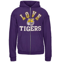 LSU Tigers - Glitter Love Girls Youth Zip Hoodie
