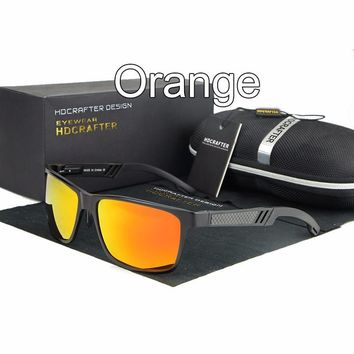 HDCRAFTER Aviation aluminum Men Sunglasses Polarized lentes gafas de hombre