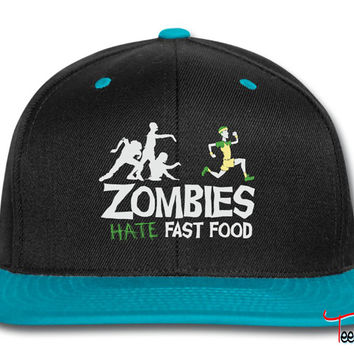 Zombies Hate Fast Food Snapback