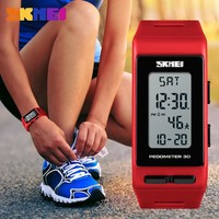 SKMEI Brand Women Watches Pedometer Calories Digital Watch Ladies Outdoor running Electronic Wrist watch Women Sports Watches