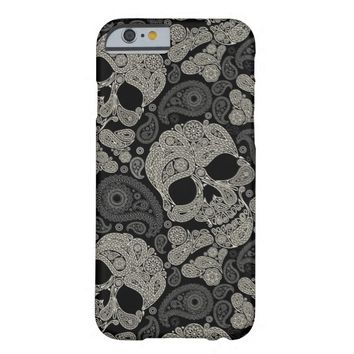 Vintage Sugar Skull Pattern Barely There iPhone 6 Case