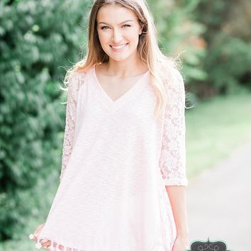 Light Pink Tassel Top