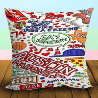 Austin Mahone Love Art Quote - Pillow Case, Square and Rectangle One Side/Two Side.
