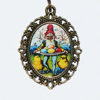 Easter Gnome Necklace