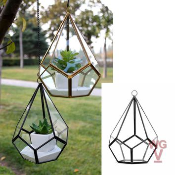 Empty Geometric Airplant Terrarium