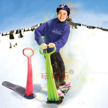 Winter Foldable Snow Sleds Snowboard Snow scooter skiing Car Board For Kids Toy High Quality Free Shipping