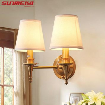 Vintage Style Wall Lamp Indoor LED Modern Bedside Lamps for Bedroom E14 Lights Fixture