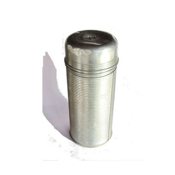 Vintage camping. Camping decor. Camping gear. Hiking decor. Thermos. Vintage thermos. Metal container. Ribbed stainless coffee thermos.