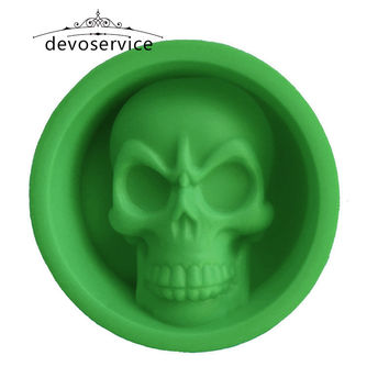 Food Grade Mini Skull Muffin Cup Silicone Molds For Cake Pudding Chocolate Ice Biscuit Non Stick Moulds Bakeware Baking Tools