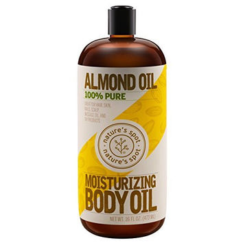 Nature's Spot Sweet Almond Oil, 16 Ounce Bottle With Spill-Free Cap