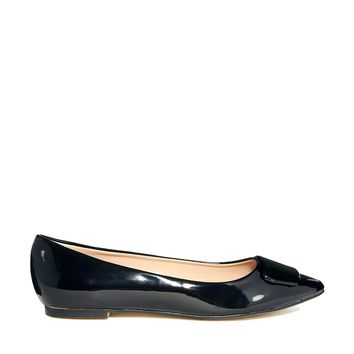 London Rebel Sally Pointed Flat Shoe
