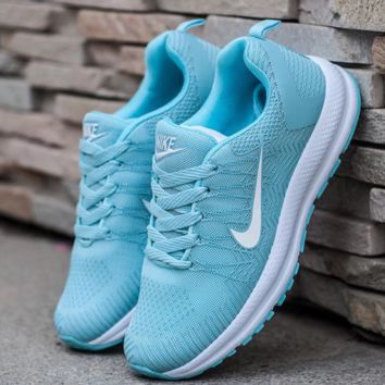 Nike Fashion Women Men Running Sport Casual Shoes Sneakers Blue