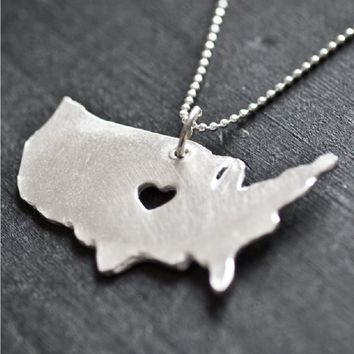 Handmade Silver Country Necklaces - Made in the USA