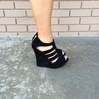 Black Cut Out Wedges