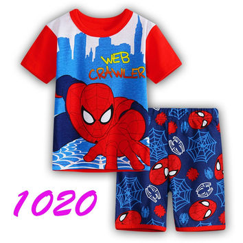 Autumn Children's Sleepwear New kids long-sleeved loungewear pants suit boys and girls cartoon casual kids clothing sets