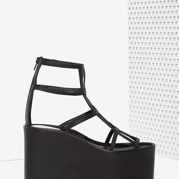 Jeffrey Campbell Douze Leather Cage Platform