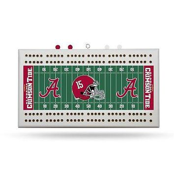 Alabama Crimson Tide NCAA Licensed 2 Track Cribbage Board FREE US SHIPPING