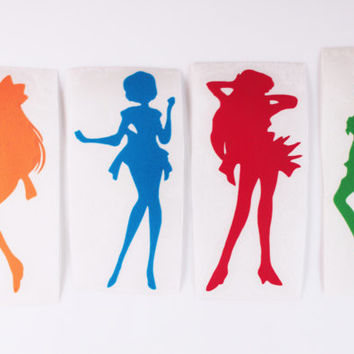 Sailor Moon and Sailor Scouts Decals