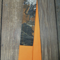 Camera Strap Cover -  Brown - Camo - Orange  - Padded with lens Cover