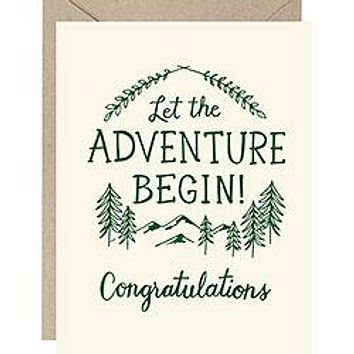 WASTE NOT PAPER LET THE ADVENTURE BEGIN CARD