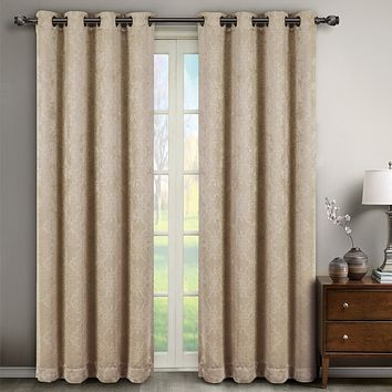 Bella Blackout Weave Window Panels (Set of 2)