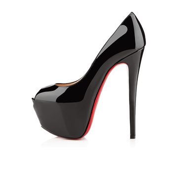 Highness 160 Black Patent Leather - Women Shoes - Christian Louboutin