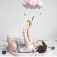 Baby Crib Toys Baby Cot Bed Musical Mobile Soft Plush Stroller Hanging Rattle Toy Newborn Gift