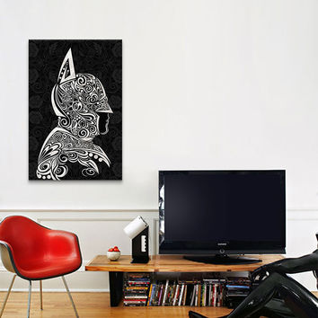 The Dark Night Shrouded in Black by 5by5collective Canvas Print