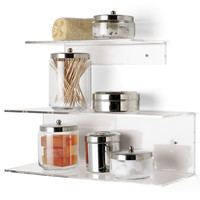The Container Store > Single & Double Acrylic Shelves