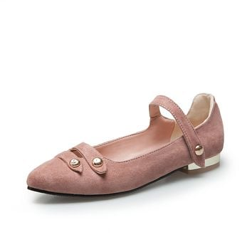 Ankle Strap Pointed Toe Flats Shoes for Women 2206