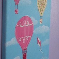 Hot Air Balloon Painting, Choose Your Colors, Child's Bedroom Art