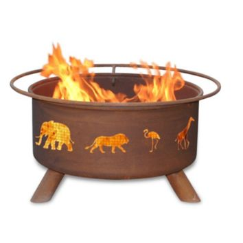 Safari Steel Fire Pit by Patina Products