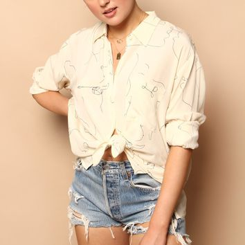 Astr The Label Agnes Buttondown