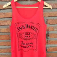 RUSSIAN RED Jack Daniels Tank Top Hipster tank top Tank top women Fitness top Summer Gift Summer fashion tshirt Vintage tank tops for woman