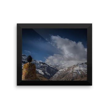 Meditiation Framed photo paper poster