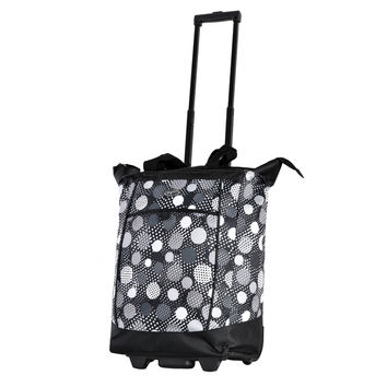 Olympia Black Polka Dot Fashion Rolling Shopper Tote   Overstock.com Shopping - The Best Deals on Travel Tote Bags