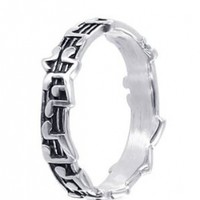 Gem Avenue 925 Sterling Silver Musical Notes 5mm Band