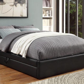 Coaster Fine Furniture Queen Bed W/ Storage Black 300386Q