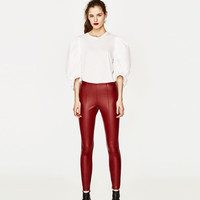 LEATHER EFFECT LEGGINGS DETAILS