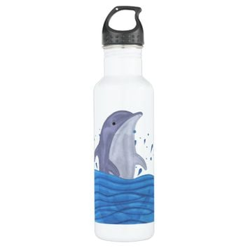 Dolphin Splash Water Bottle