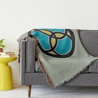 Jesus Fish Trinity Stained Glass - RWB Throw