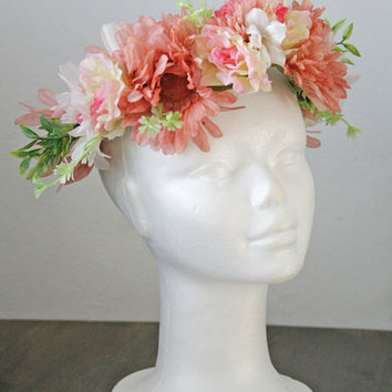 floral crown - flower circlet  bridal crown - fairy crown
