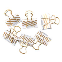 See Jane Work® Binder Clips, Gold Stripe, Pack Of 6 Item # 345585