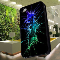 Batman Cracked Out Broken for iphone 4/4S/5/5S/5C case, Samsung Galaxy S3/S4 case