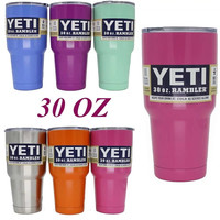 Yeti Cups 304 Stainless Steel 30 oz Cooler YETI Rambler Tumbler Cup Vehicle Beer Mug Double Wall Bilayer Vacuum Insulated