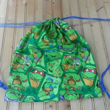 Ninja Turtle pull string backpack