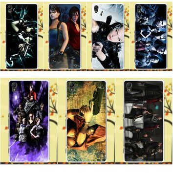 Soft TPU Art Online Cover Case For Sony Xperia Z Z1 Z2 Z3 Z4 Z5 compact Mini M2 M4 M5 T3 E3 XA Resident Evil Group Wallpaper