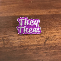 They/Them Lapel Pin