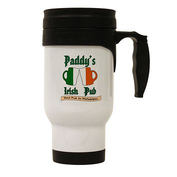 Paddy's Irish Pub Stainless Steel 14oz Travel Mug by TooLoud